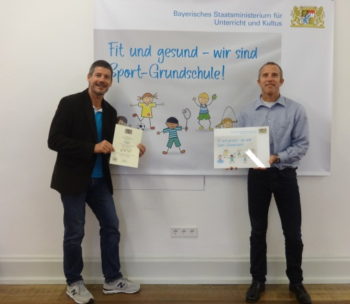 Verleihung des Schulprofils Sport Grundschule – Zertifizierungsfeier im Kultusministerium