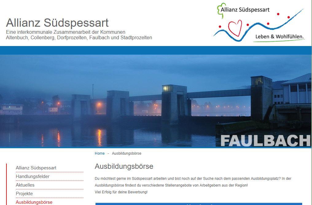 Ausbildungsbörse - Allianz Südspessart